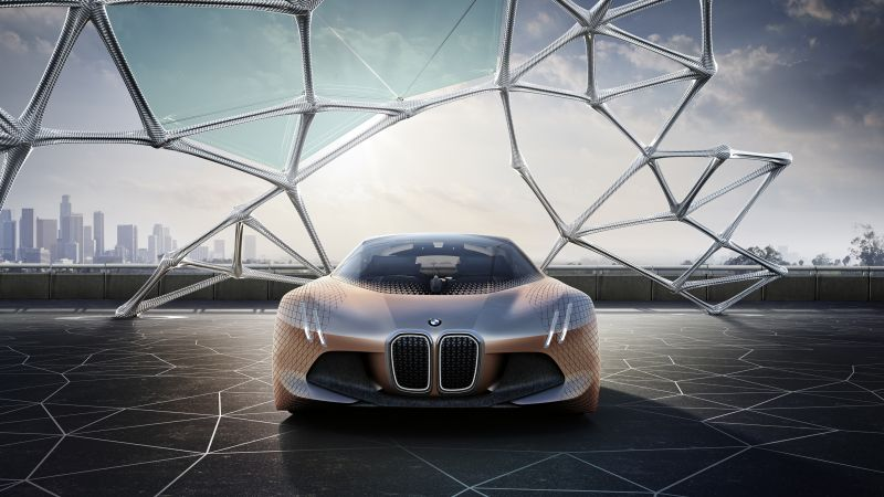 BMW VISION NEXT 100, HD, концепт, электромобиль (horizontal)