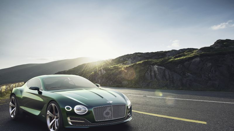 Bentley EXP12 Speed 6e, 4k, 8k, зеленый (horizontal)