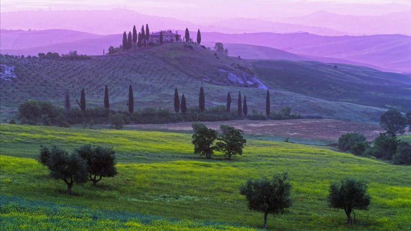 Тоскана Обои, Природа: Тоскана, Италия ...: wallpapershome.ru/priroda/toskana-italiya-podere-belvedere-hotel...