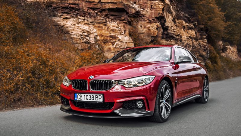БМВ 440ай, Bmw 440i, red edition, красный, купе (horizontal)