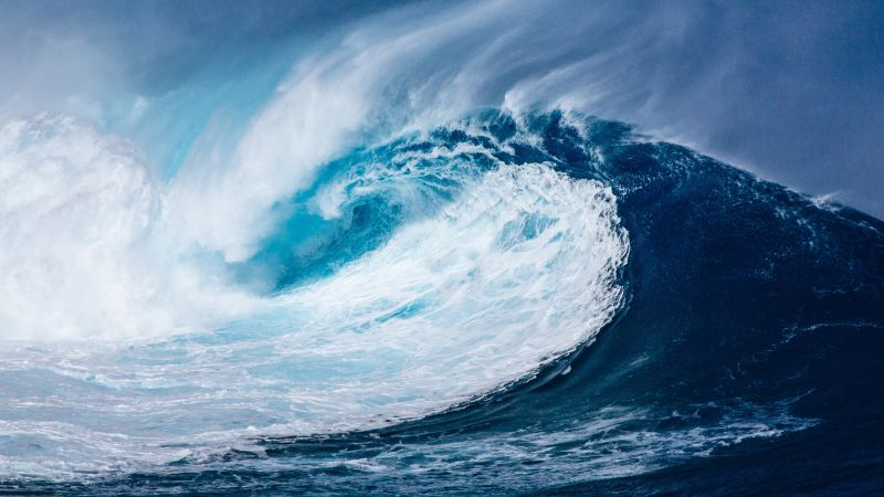 волна, океан (horizontal)