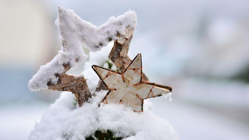 Рождество, новый год, зима, снег (horizontal)