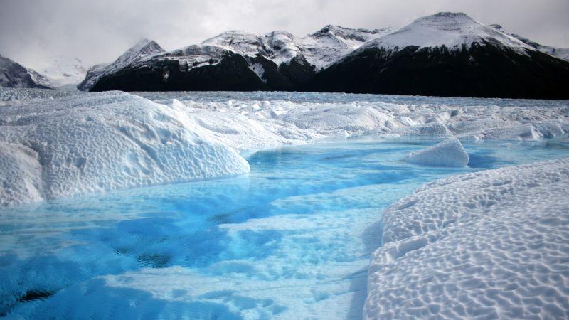 горы, ледник (horizontal)