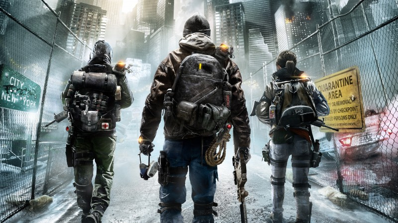 Tom Clancy's, The Division, солдат, апокалипсис, ps4, xbox one, PC, оружие, руины, город, 2015