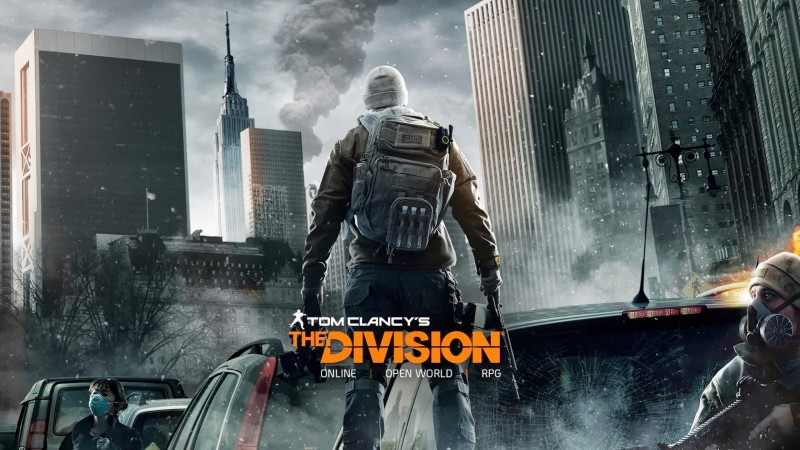 Tom Clancy's, The Division, солдат, апокалипсис, ps4, xbox one, PC, оружие, руины, город, 2015 (horizontal)