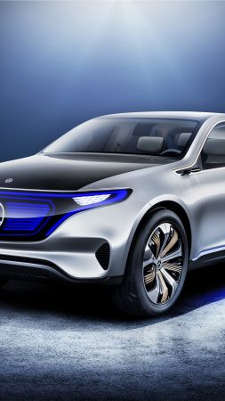 Mercedes Generation EQ, мерседес-бенц, электромобиль, париж авто шоу 2016