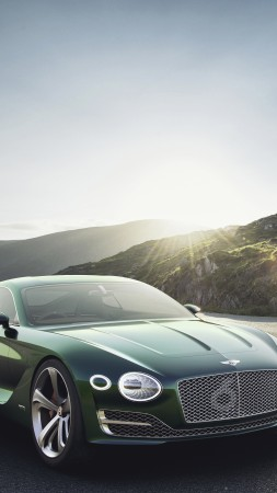 Bentley EXP12 Speed 6e, 4k, 8k, зеленый (vertical)