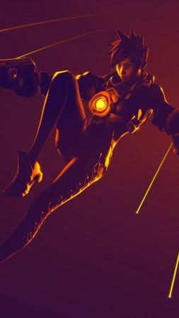 Overwatch трейсер арт 3