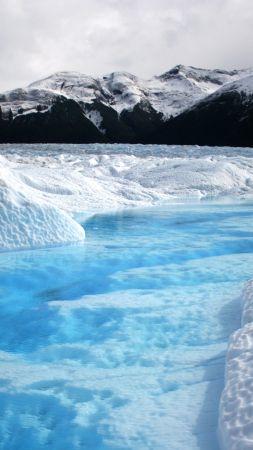 горы, ледник (vertical)