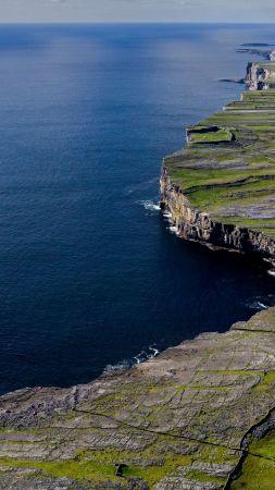 скалы, горы, вода, море (vertical)