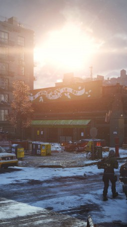 Tom Clancy's, The Division, апокалипсис, скриншот, ps4, xbox one, PC, оружие, руины, город, 2015 (vertical)
