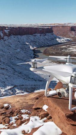 Фантом 4, дрон, квадрокоптер, камера, обзор (vertical)