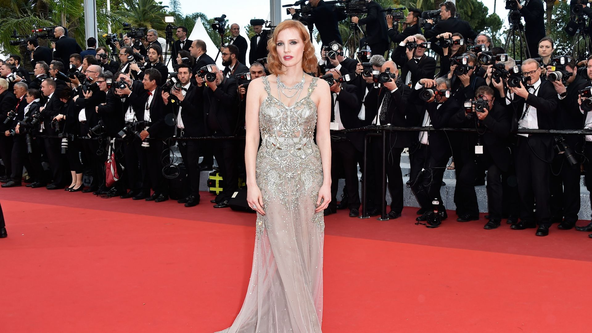 ДЖессика Честейн, Каннский кинофестиваль 2016, красная дорожка, Jessica Chastain, Cannes Film Festival 2016, red carpet (horizontal)