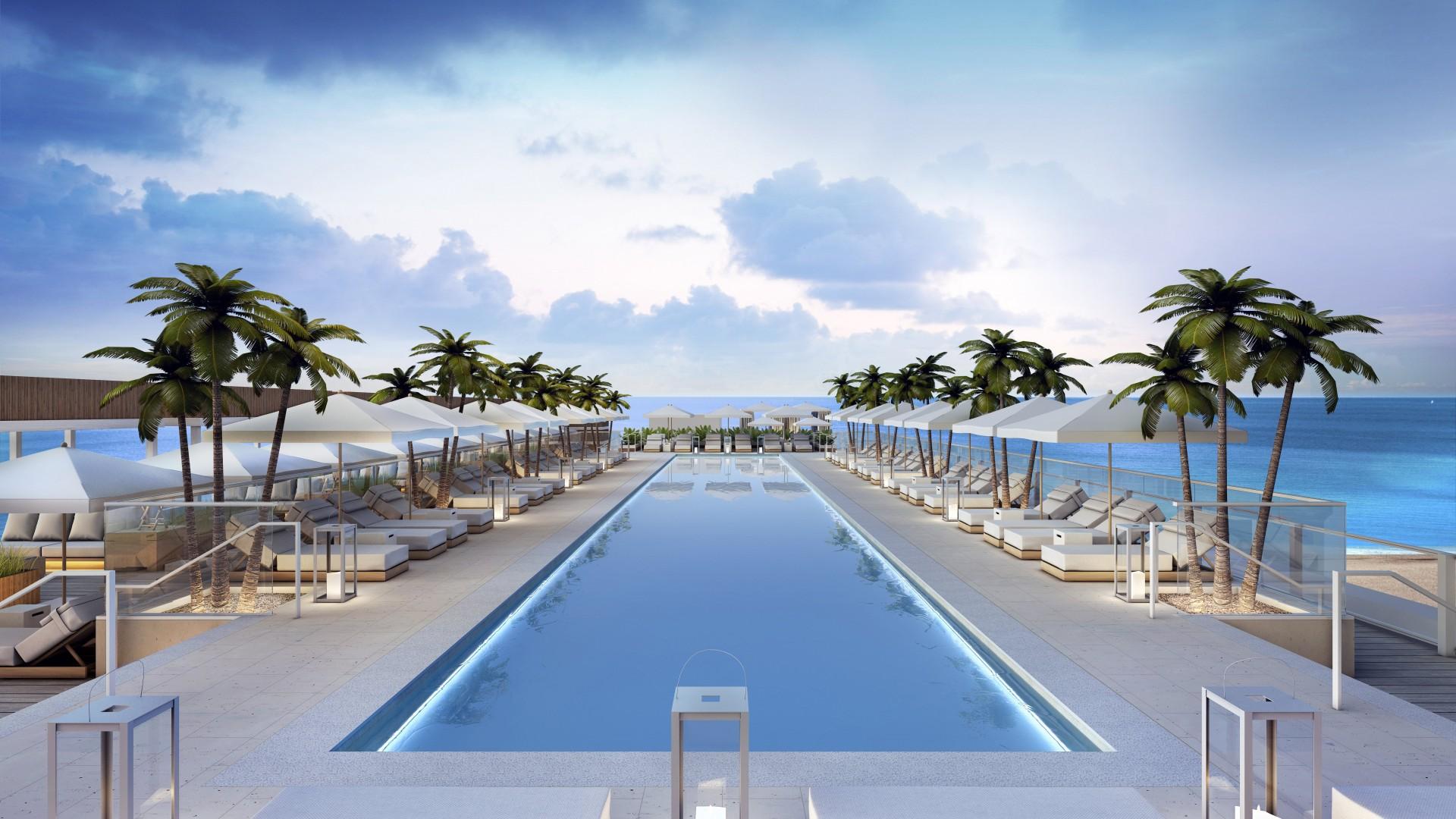 Майами США страны архитектура пляж без смс