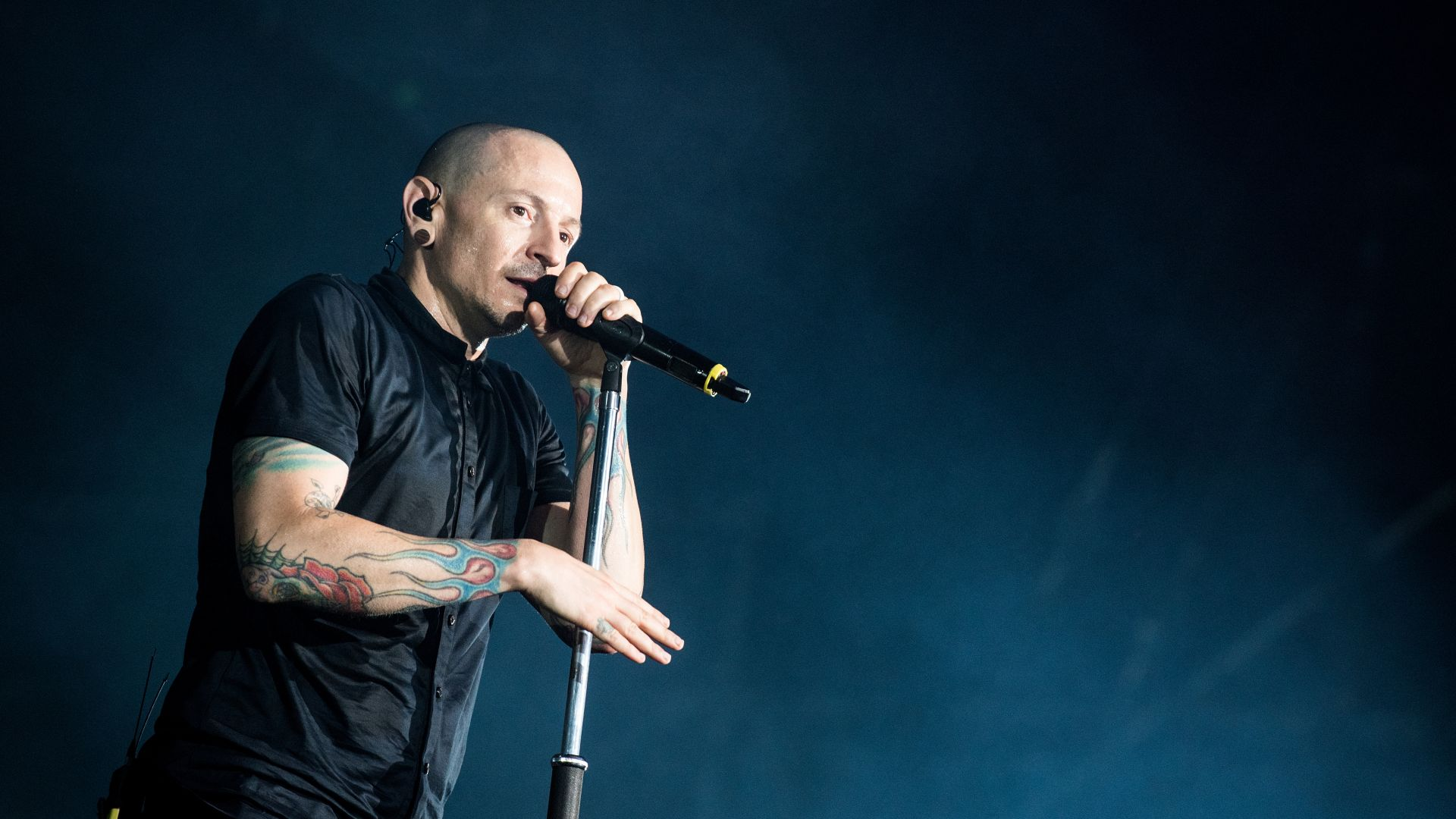 Честер Беннингтон, Chester Bennington, photo, 5k (horizontal)