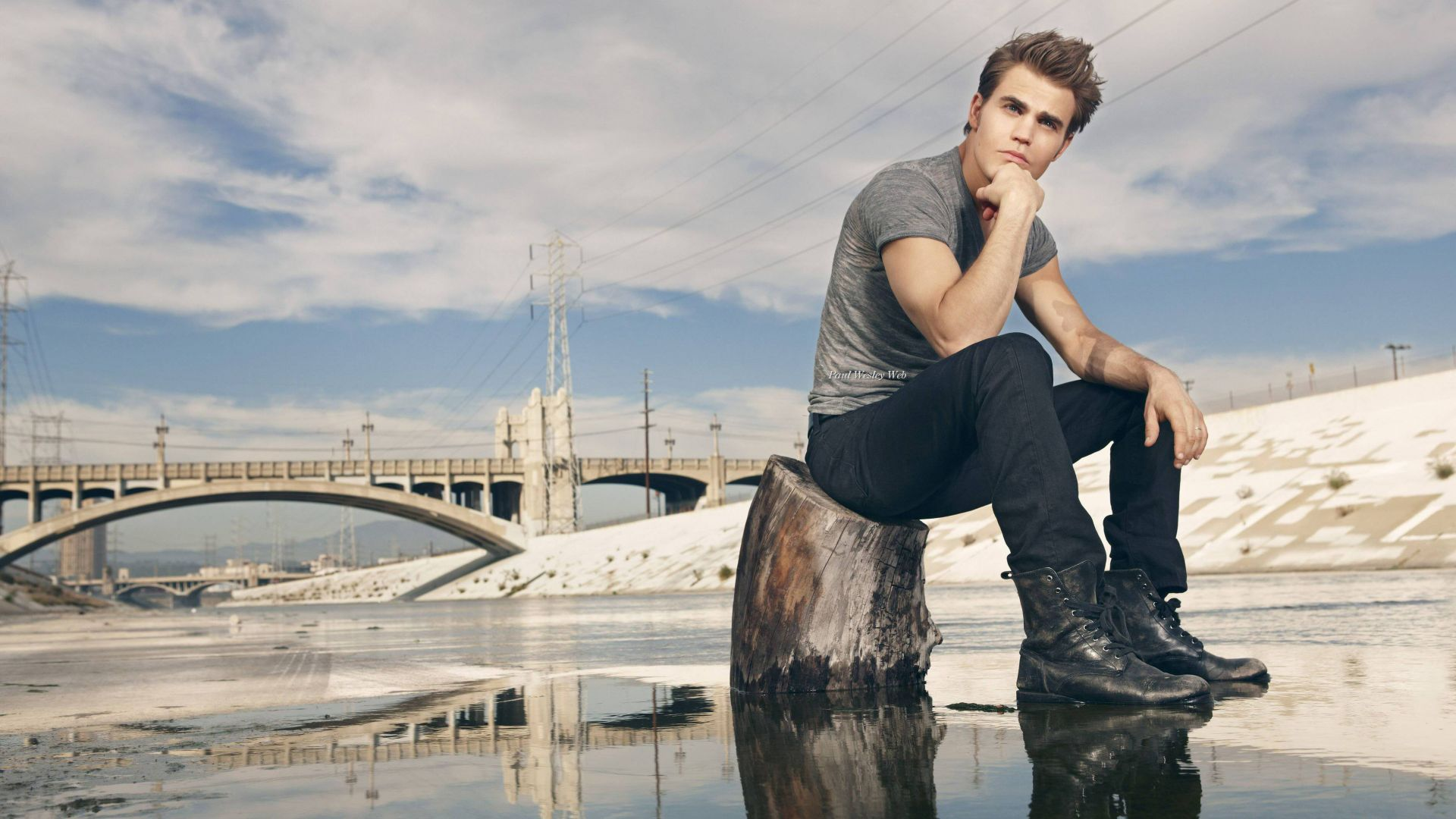 Пол Уэсли, Paul Wesley, photo, 4k (horizontal)