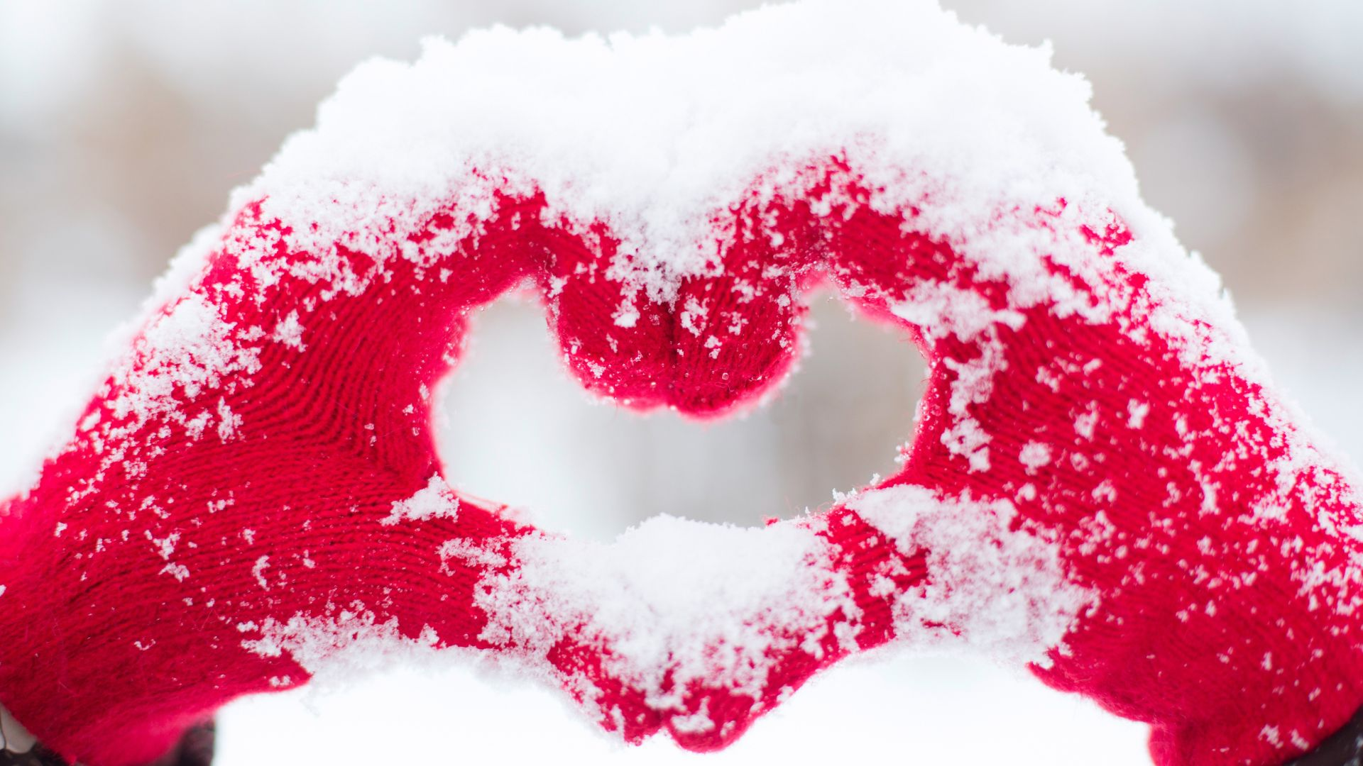 фото любовь, сердце, love image, heart, snow, 4k (horizontal)
