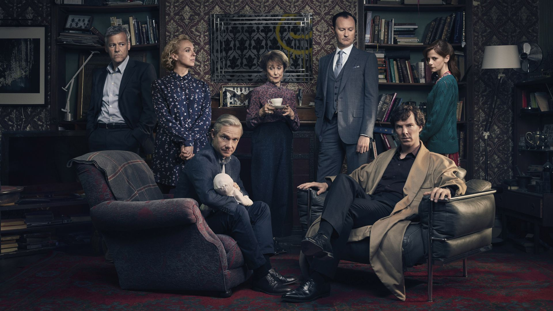Шерлок 4, Sherlock Season 4, Benedict Cumberbatch, Martin Freeman, Louise Brealey, TV Series, 4k (horizontal)