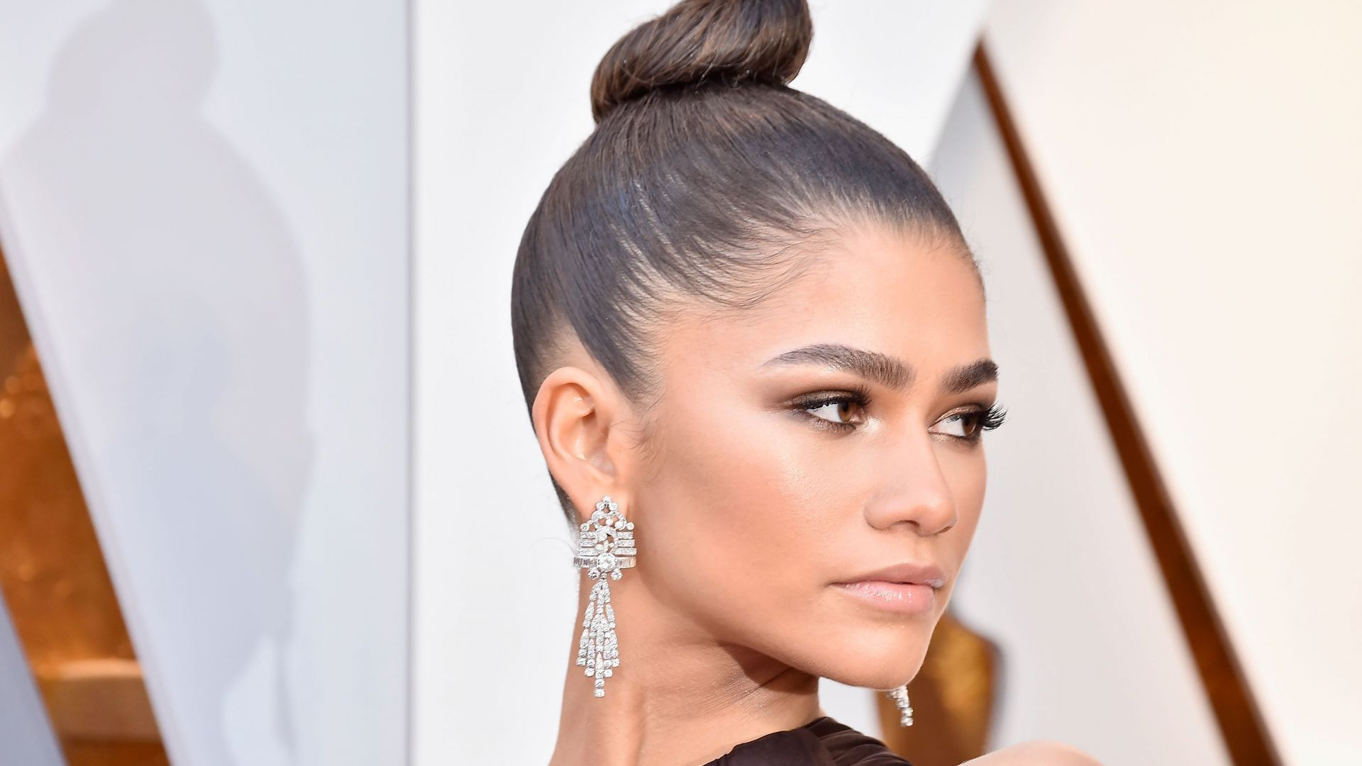 Зендая, брюнетка, Zendaya, Oscar 2018, photo, brunette, 4k (horizontal)