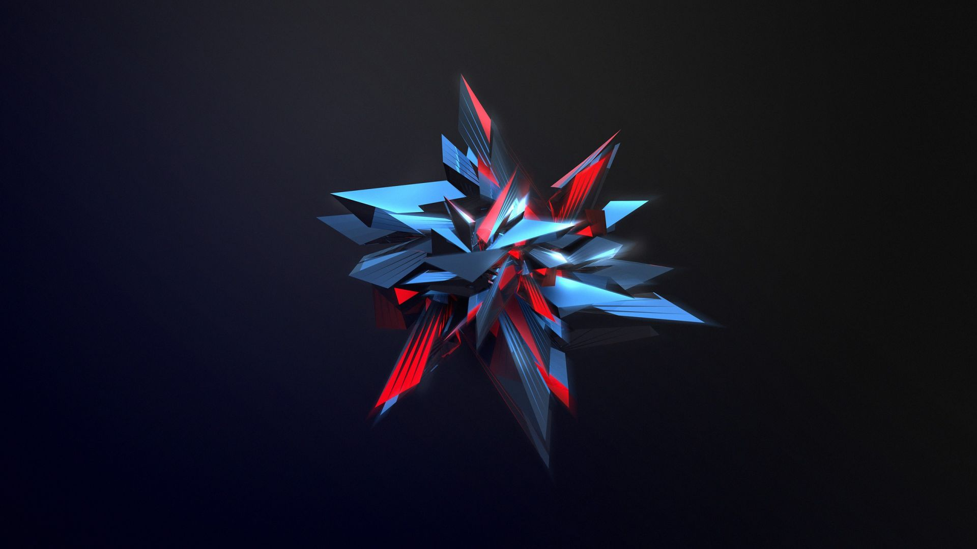 абстракция, 3D, abstract, shapes, glass, 4k (horizontal)