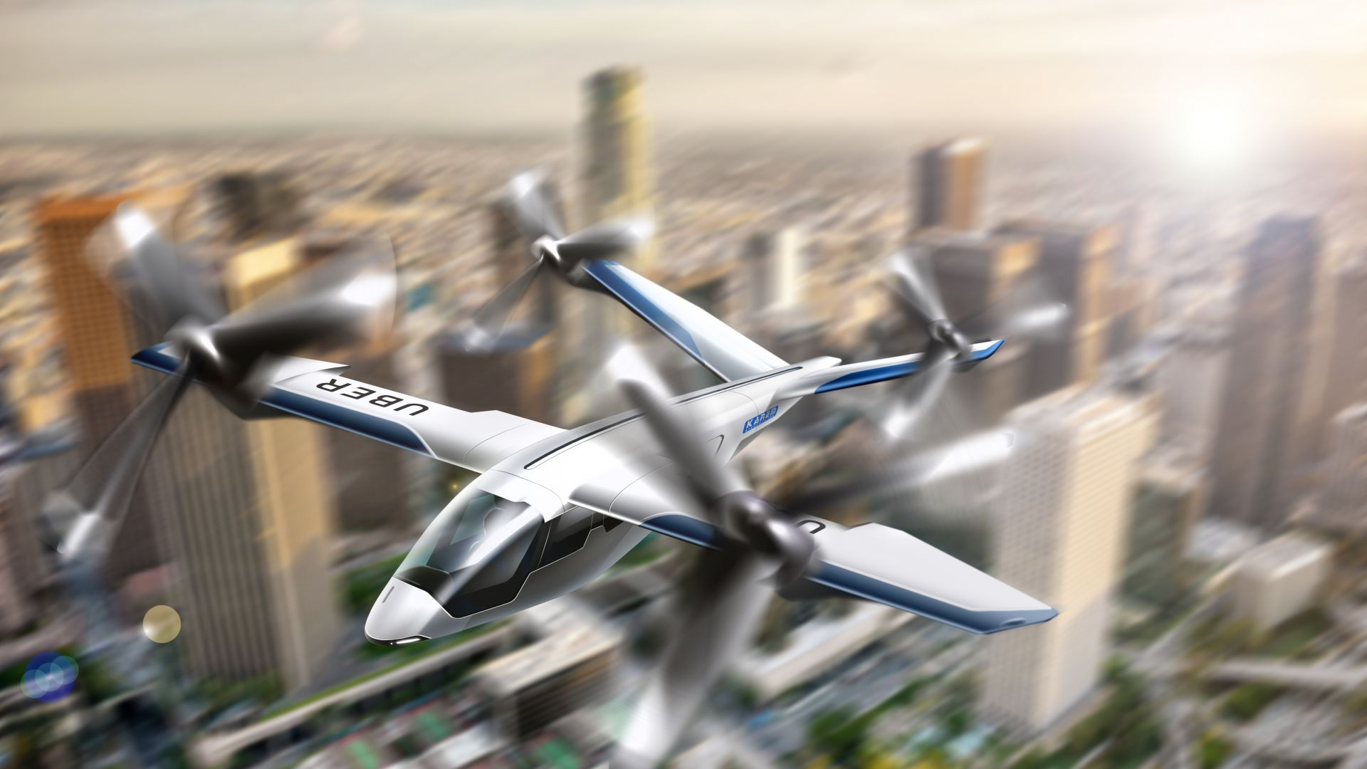 Убер, Uber Elevate Summit, Flying Taxi, 4K (horizontal)