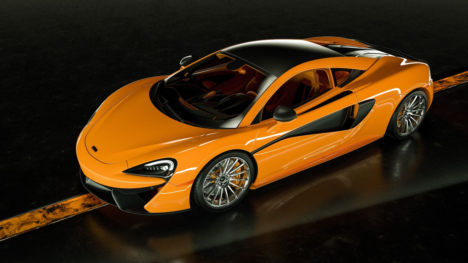 McLaren 570S, 2019 Cars, supercar, luxury cars, 4K (horizontal)