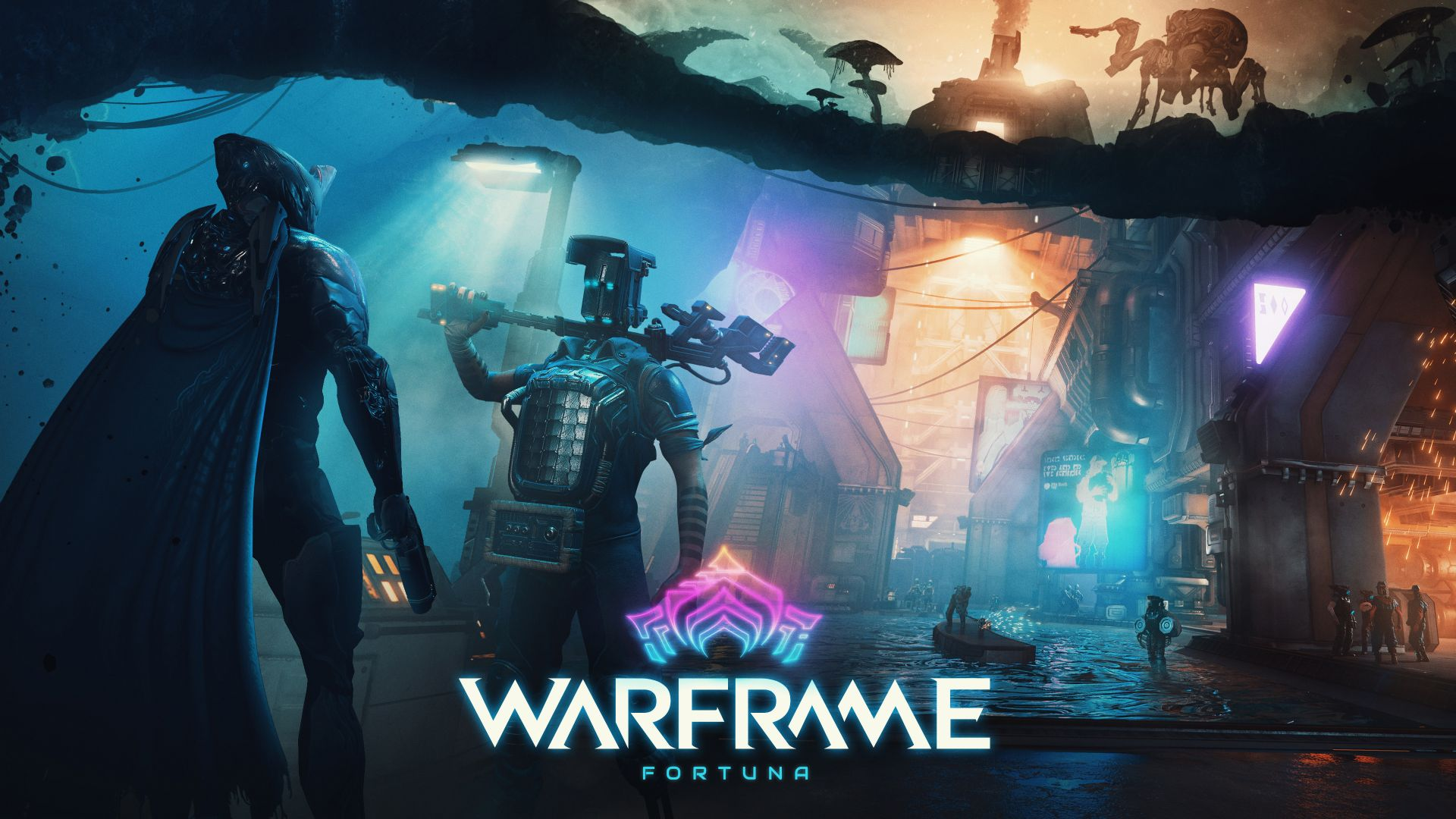 Варфрейм Фортуна, Warframe Fortuna, artwork, poster, 4K (horizontal)