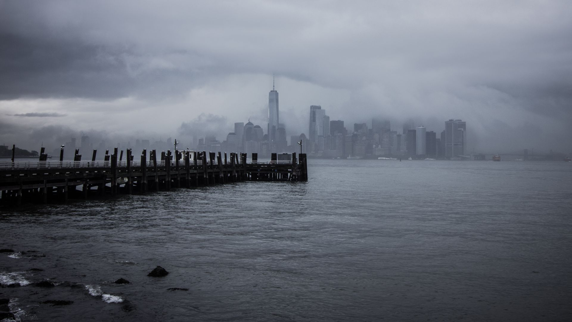 Нью Йорк, New York City, USA, pier, 4K (horizontal)