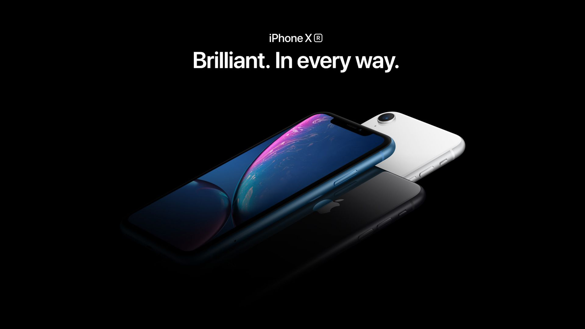 Айфон XR, голубой, черный, белый, iPhone XR, blue, black, white, smartphone, Apple September 2018 Event (horizontal)
