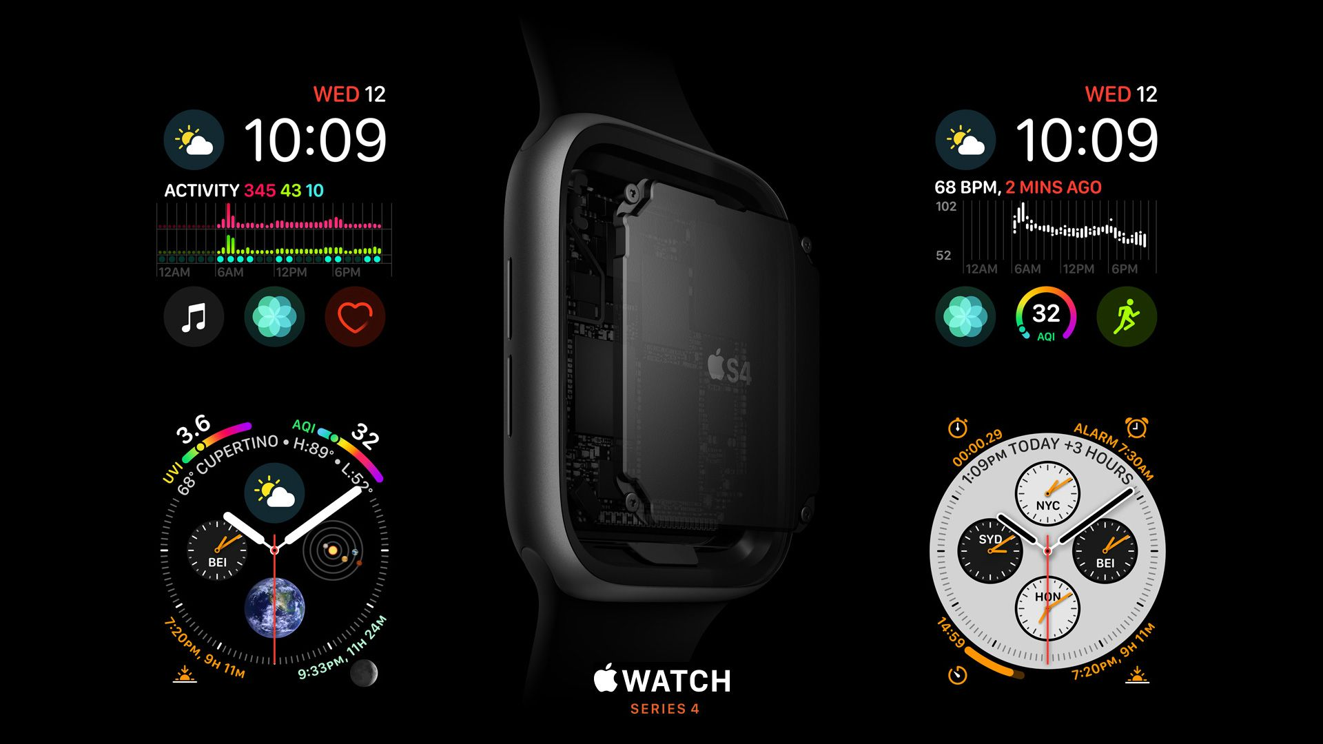 Apple Watch Series 4, S4, Apple September 2018 Event, Apple Watch Series 4, S4, Apple September 2018 Event (horizontal)
