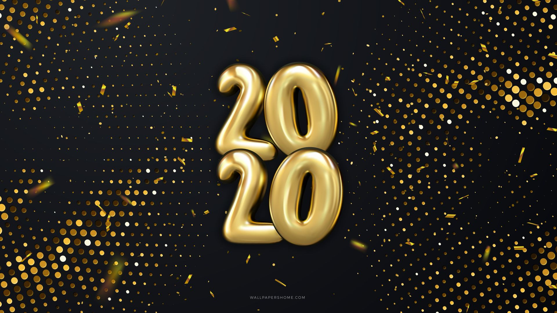 Новый Год 2020, Рождество, New Year 2020, Christmas, poster, 8k (horizontal)