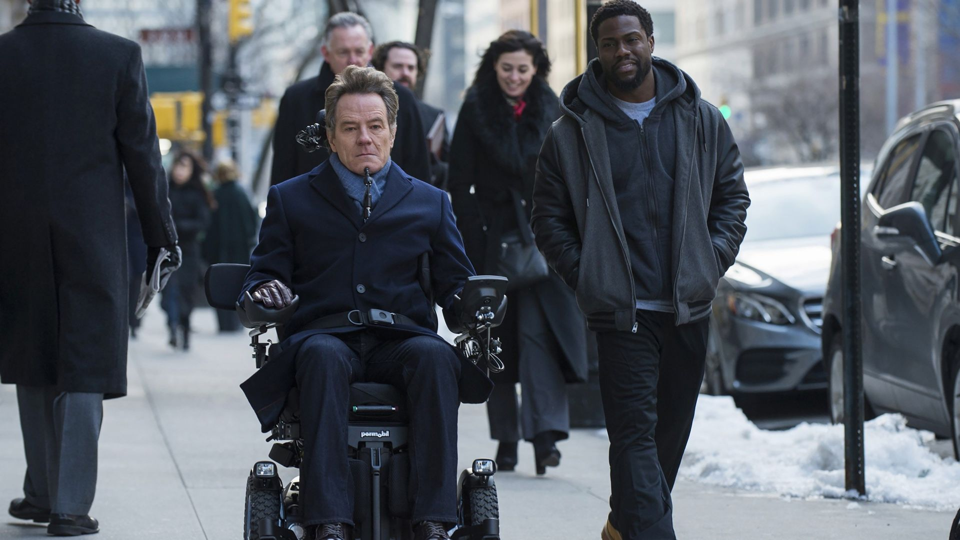 1+1: Голливудская история, The Upside, Kevin Hart, Bryan Cranston, HD (horizontal)