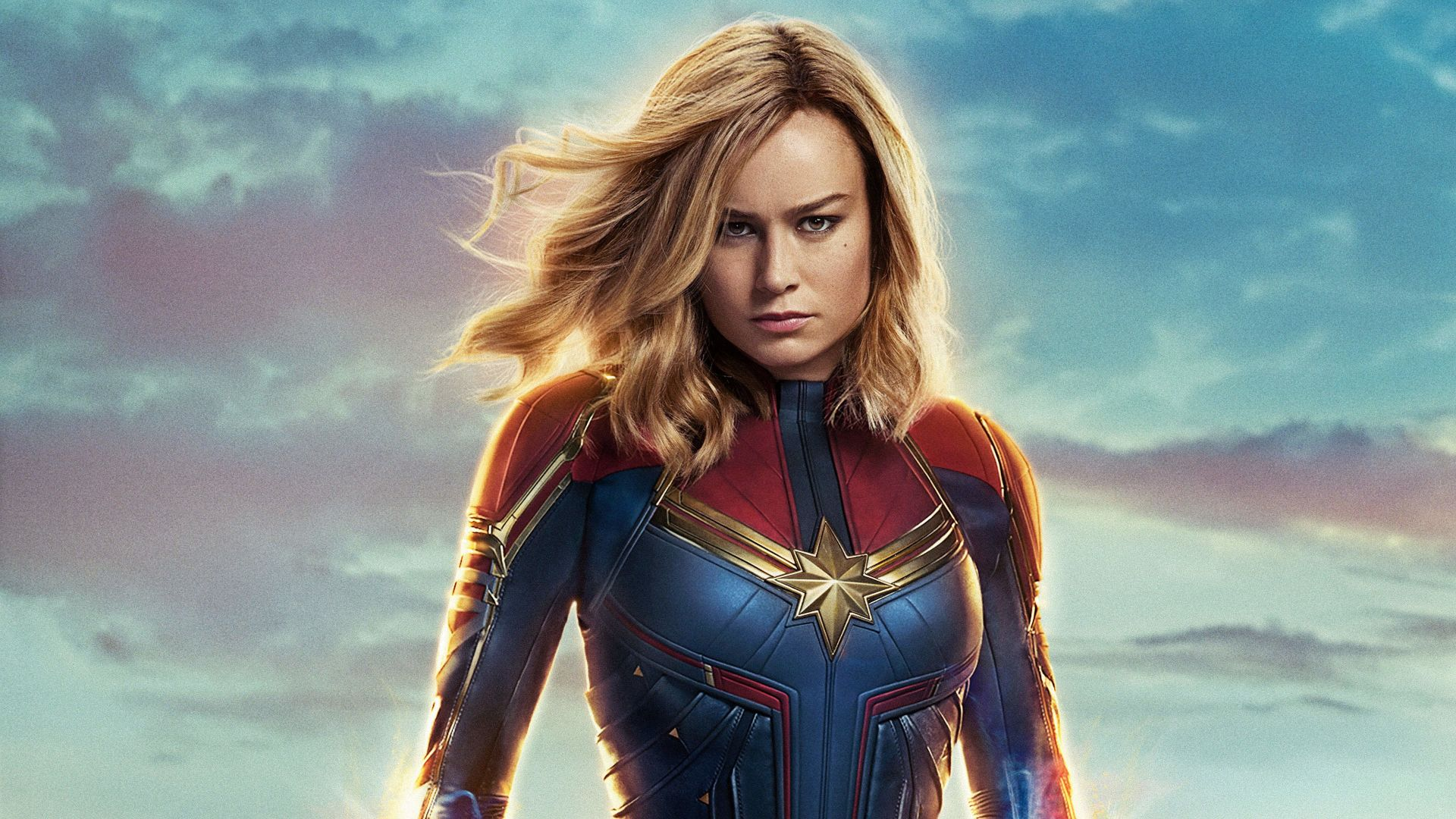 Капитан Марвел, Captain Marvel, Brie Larson, 4K (horizontal)