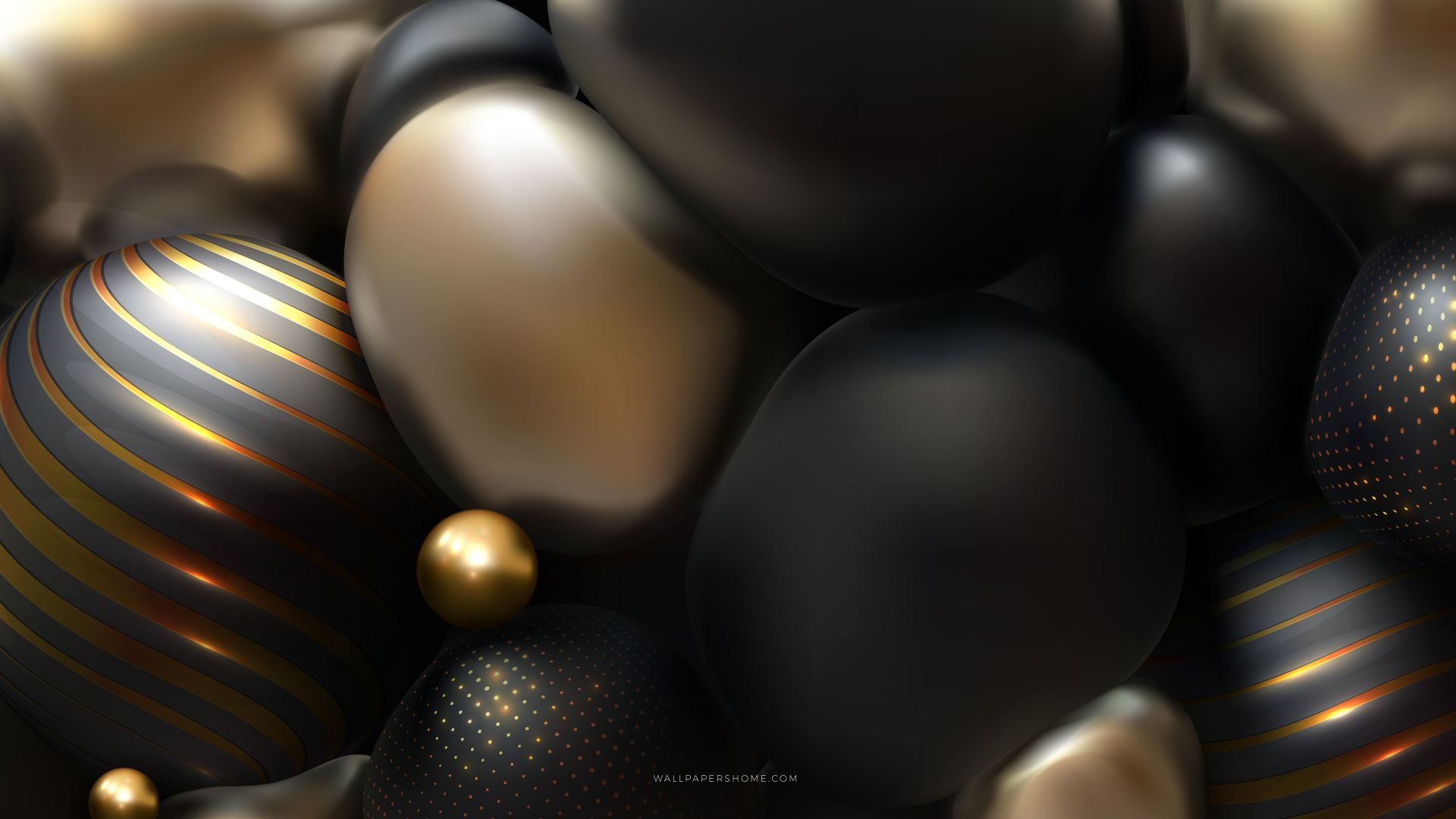 абстракция, abstract, 3D, colorful, pearls, 8k (horizontal)