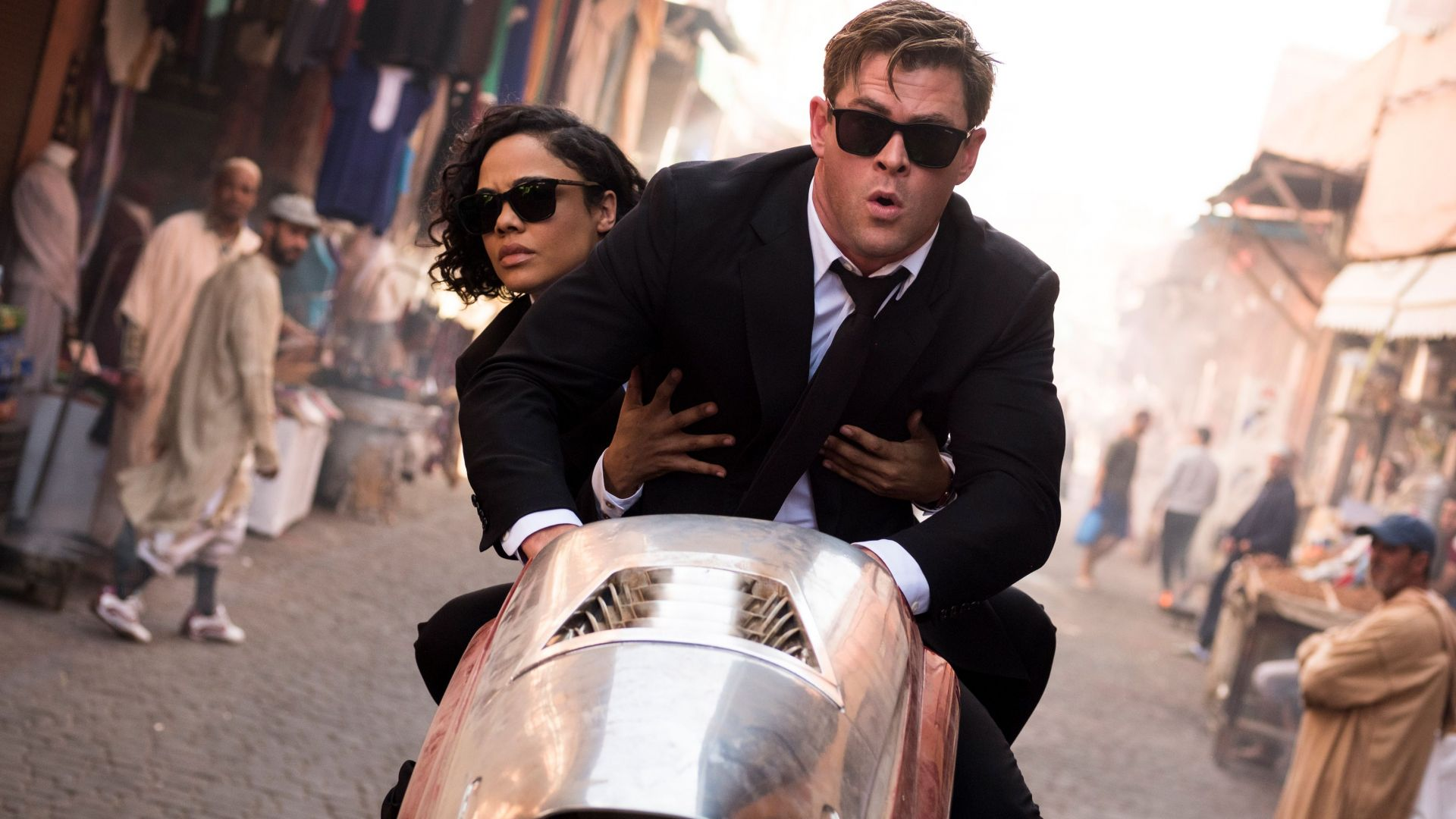 Люди в черном 4: Интернэшнл, Men in Black: International, Chris Hemsworth, Tessa Thompson, 4K (horizontal)