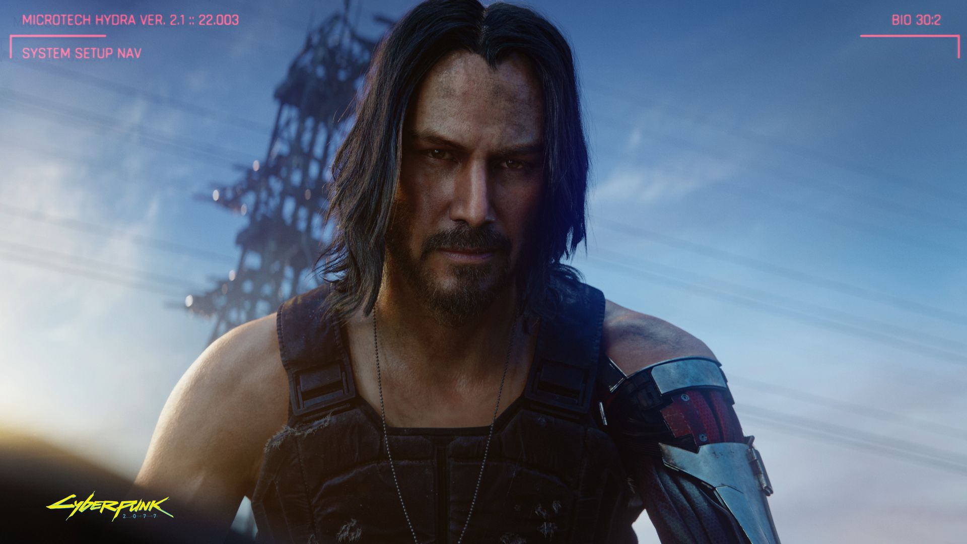 Киберпанк 2077, Cyberpunk 2077, Keanu Reeves, E3 2019, screenshot, 4K (horizontal)