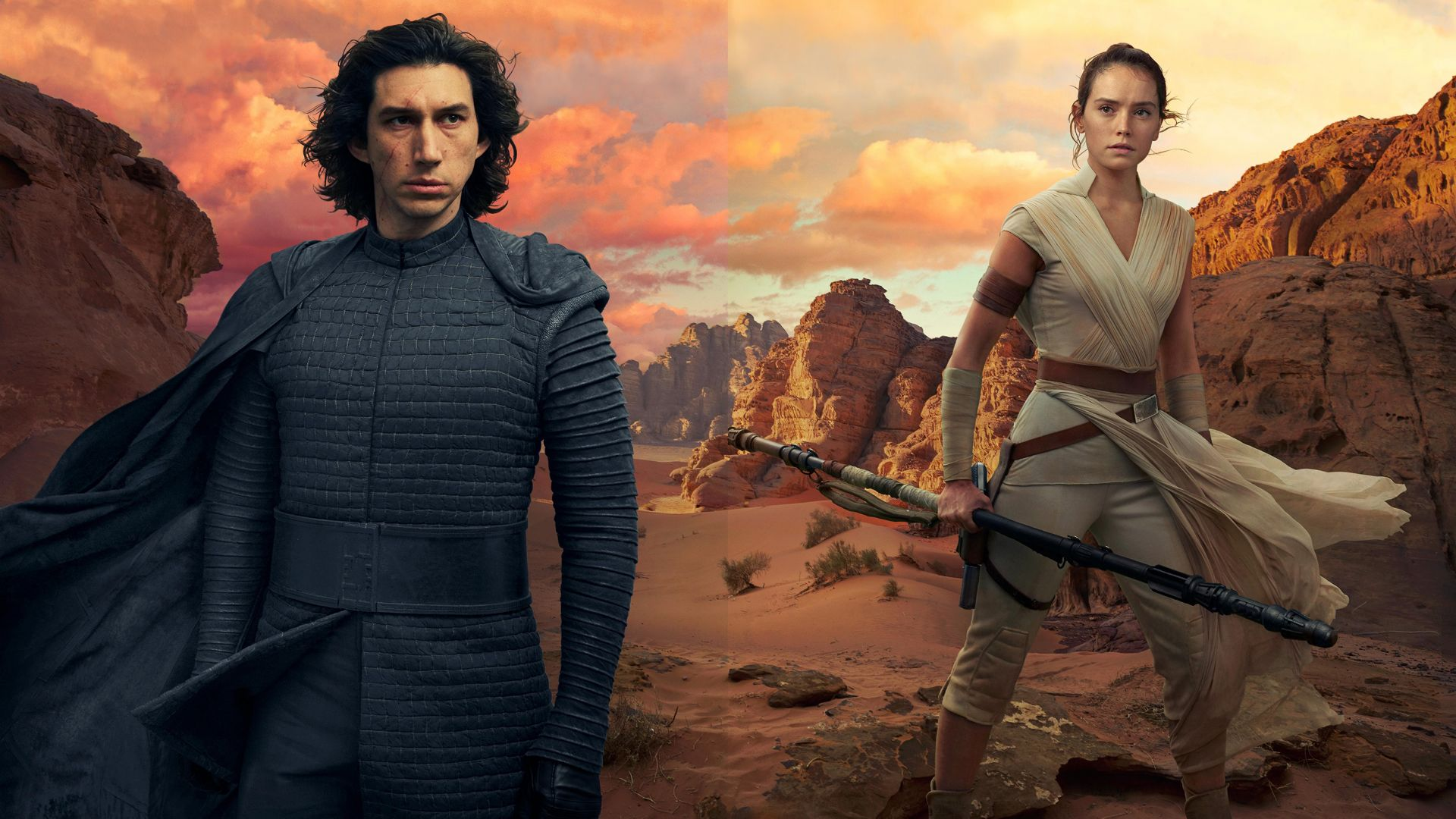 Звёздные войны: Скайуокер. Восход, Star Wars: The Rise of Skywalker, Adam Driver, Daisy Ridley, 5K (horizontal)