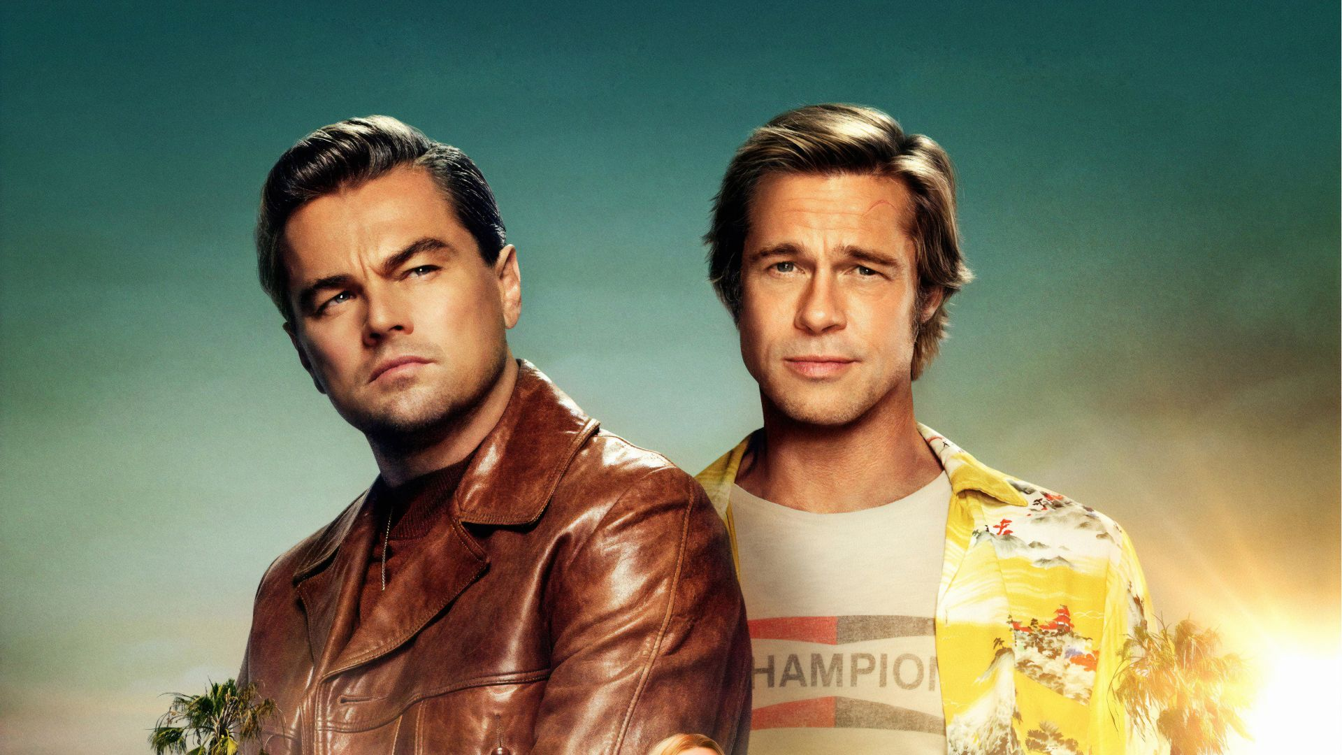 Однажды в Голливуде, Once Upon A Time In Hollywood, Brad Pitt, Leonardo DiCaprio, 4K (horizontal)