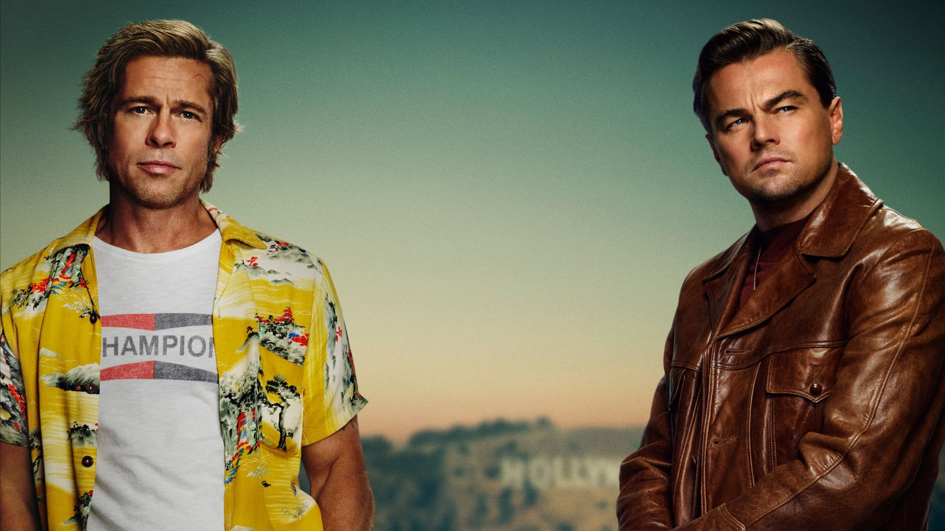 Однажды в Голливуде, Once Upon A Time In Hollywood, Brad Pitt, Leonardo DiCaprio, 5K (horizontal)