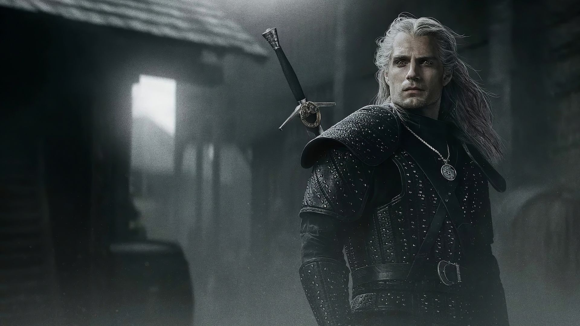 Ведьмак, The Witcher, poster, Henry Cavill, 5K (horizontal)
