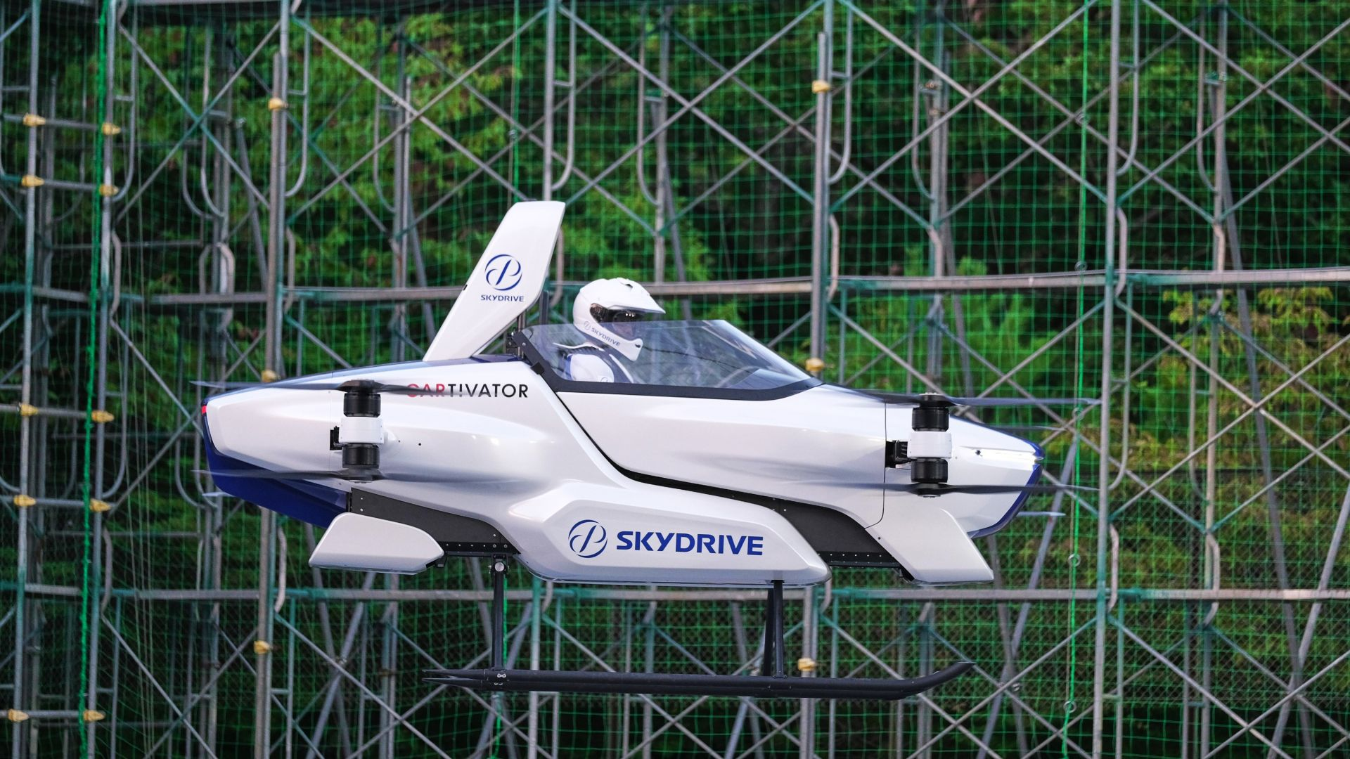 летающее такси, Toyota SkyDrive, flying taxi, 4K (horizontal)