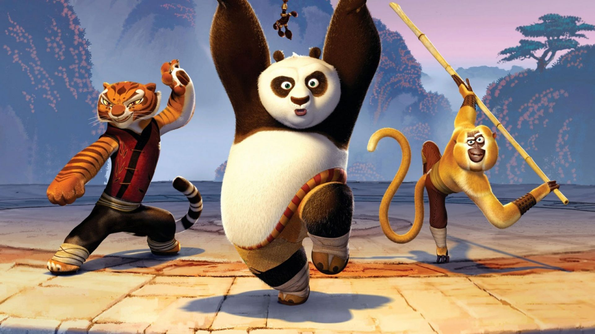 kung fu panda Kung fu panda 2008 pg 1h 34m when the valley of peace is threatened, lazy po the panda discovers his destiny as the chosen one and trains to become a kung fu hero.