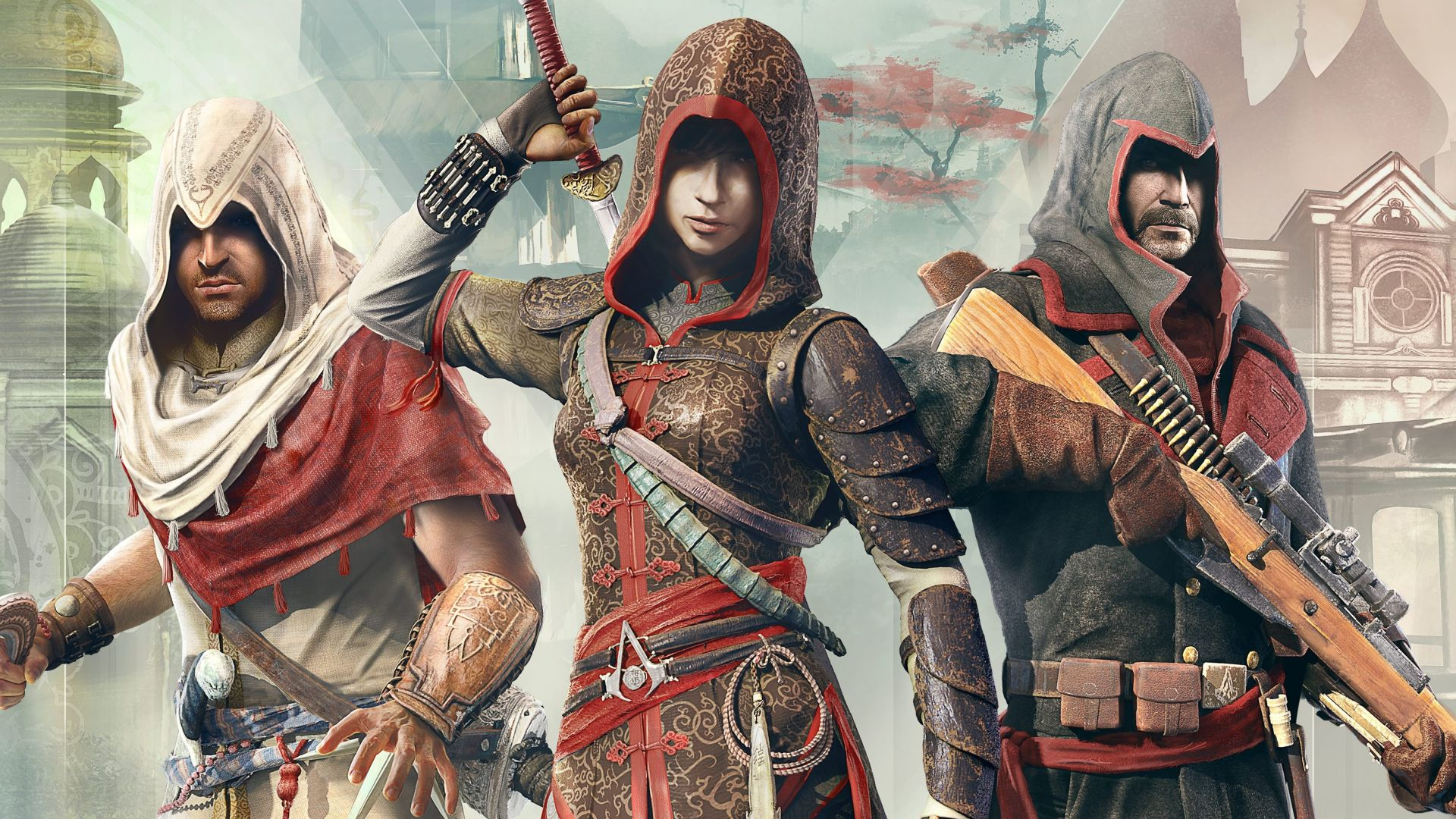Assassin's Creed Chronicles Trilogy, Лучшие игры, игра, аркада, фантастика, Китай, ПК, PC, PS4, Xbox One, Assassin's Creed Chronicles Trilogy, Best Games, game, arcade, sci-fi, China, PC, PS4, Xbox One (horizontal)