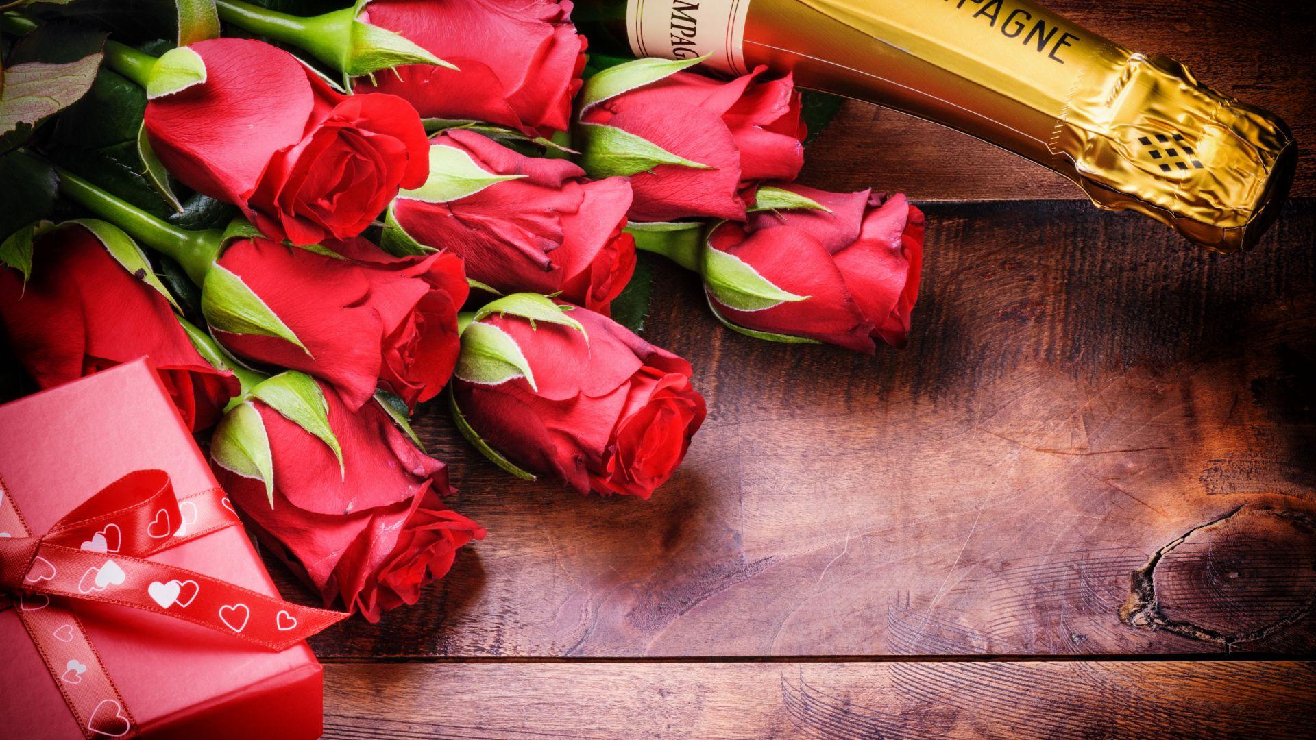 Открытка с розами на юбилей 636