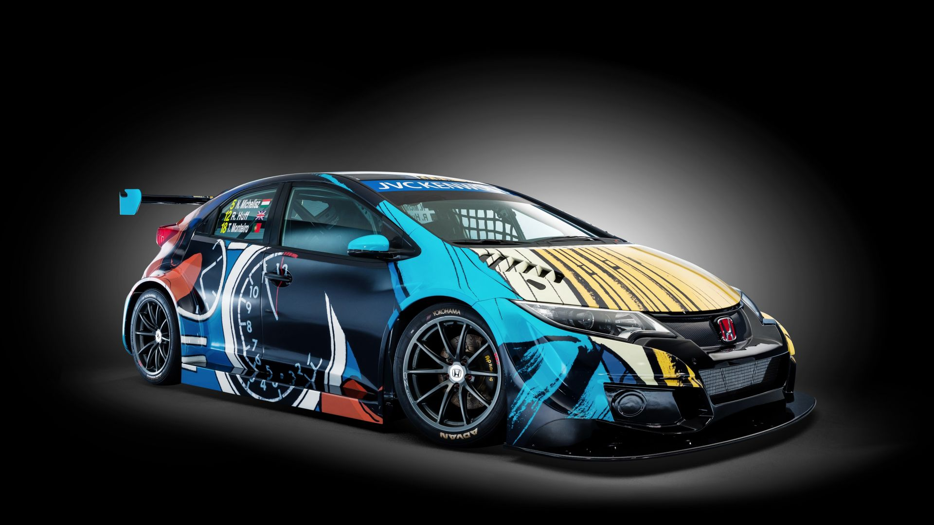 Хонда цивик, арт Джин Гратон, Honda Civic WTCC, Art Car Jean Graton (horizontal)