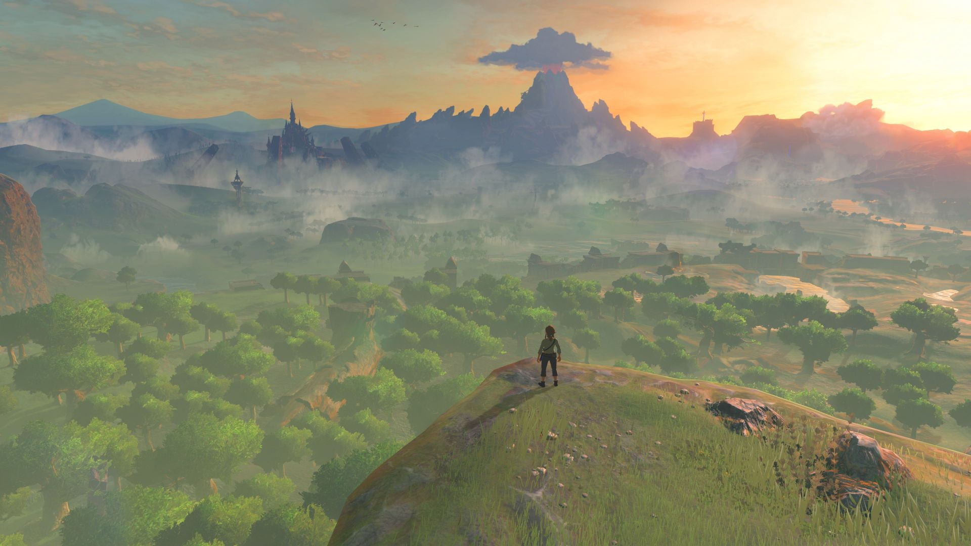 легенда зельды, The Legend of Zelda: Breath of the Wild, природа, лучшие игры, The Legend of Zelda: Breath of the Wild, best games, nature, Wii U, NX (horizontal)