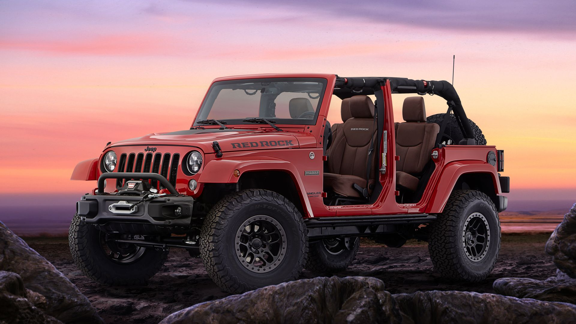 Jeep Red Rock, Jeep Wrangler, внедорожник, джип, Jeep Red Rock, Jeep Wrangler, SUV (horizontal)
