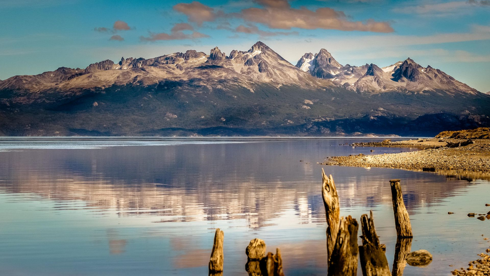 горы, 4k, HD, озеро, море, Аргентина, mountain, 4k, HD wallpaper, lake, sea, Ushuaia, Argentina