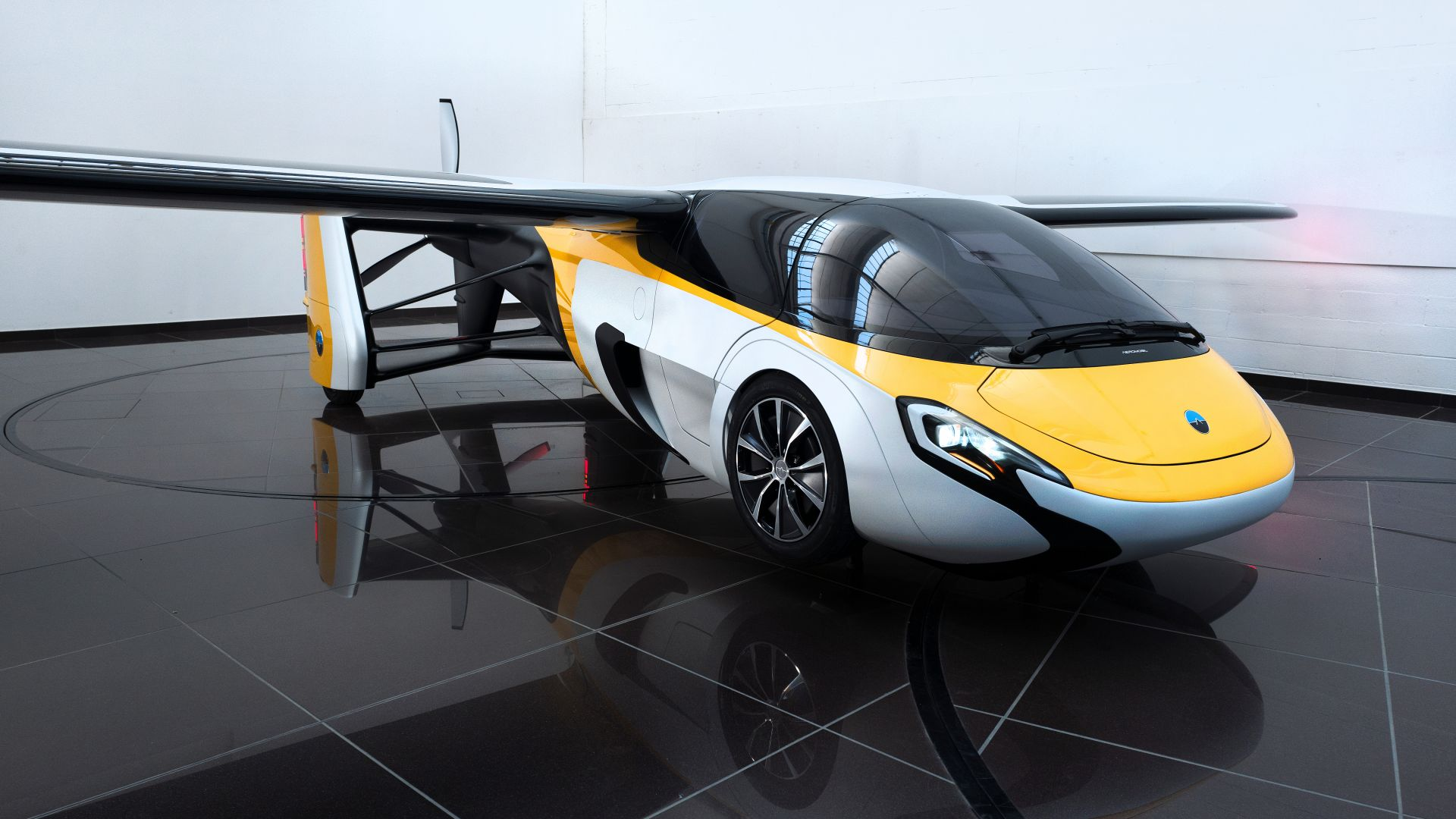 аэромобиль, концепт, тест драйв, AeroMobil 3.0, concept, aircraft, flying car, runway, front, test drive (horizontal)