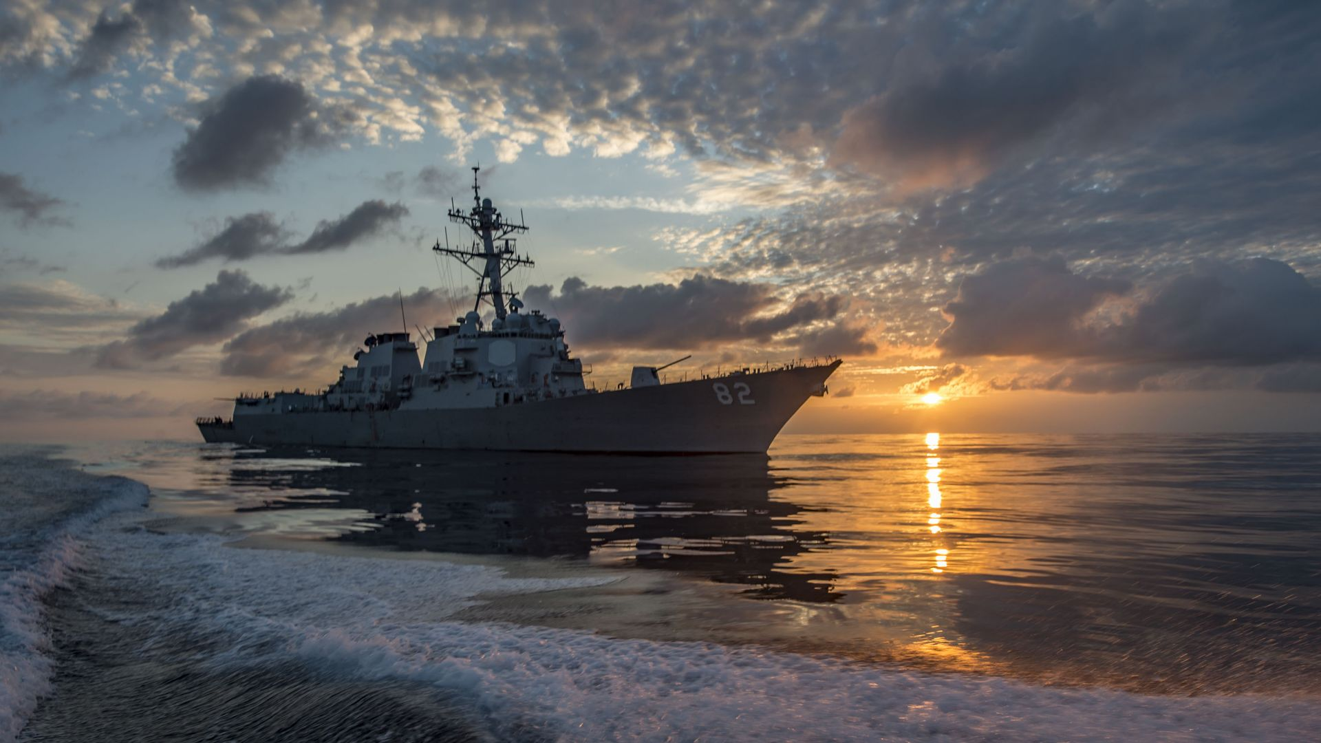 USS Lassen, DDG-82, Арли Бёрк, миноносец, ВМС США, USS Lassen (DDG-82), Arleigh Burke-class, guided missile destroyer, USA Navy (horizontal)